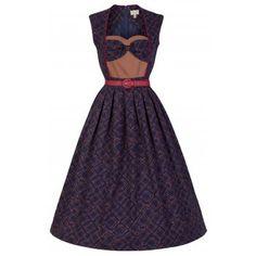 Zarah Blue Fit N Flare Dress | Vintage Inspired Fashion - Lindy Bop