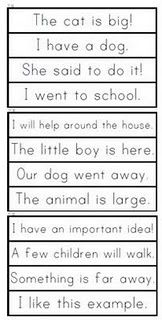 sight word phrase cards