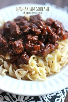 Hungarian Goulash A Flavorful Saucy Tender Beef Stew Served Atop A Bed Of