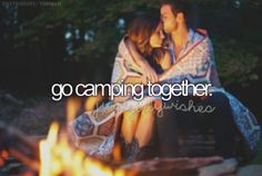 With our families. We have so much to look forward to. cuddling by the campfire will send me to heaven