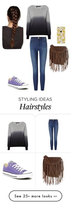 """""""Untitled #84"""" by macsuzbax on Polyvore featuring moda, 360 Sweater, Converse, Frame Denim y Glamorous"""