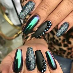 I love all the different finishes like glitter, matte, crystals, and duo chrome mirror nails. It works!