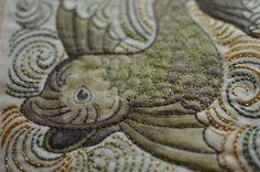 William De Morgan Fish....quilted x