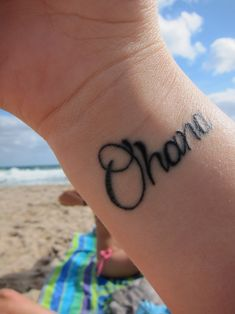 "idk why i like simple small writing/symbol tats instead of those big fancy designs. and yeah planning to get one ""ohana"" :)"