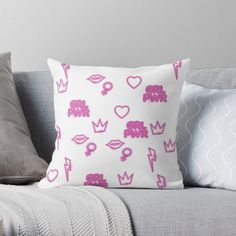 'Girl power, Independent Beautiful Strong Women' Throw Pillow by Free Stickers, Designer Throw Pillows, Pillow Design, Strong Women, Girl Power, Vibrant, Art Prints, Printed, Awesome