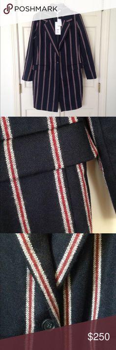 Women's Navy Iris Striped Boyfriend Coat! I call it a perfect jacket! Women's navy Iris Striped Boyfriend Coat! Elizabeth and James Jackets & Coats Pea Coats
