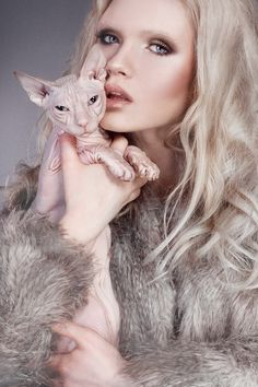 Model and pet