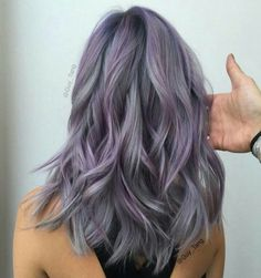 grey and purple hair | Dusty lilac hair for spring!