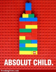 LEGO Absolut vodka for kids Clever Advertising, Print Advertising, Advertising Campaign, Absolut Vodka, Web Design, Graphic Design, Ads Creative, Creative Posters, Creative Design