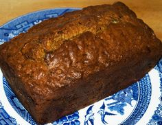 This is the closest we've found to the banana bread that T.H. likes, though he would prefer even more moist/cakey.  May add an extra banana next time.  Mine did not brown up nearly like the loaf in the picture.