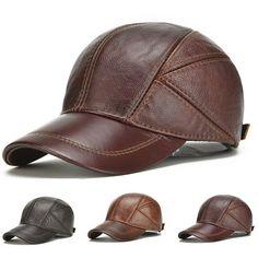 183fd330b793d1 (Sponsored)eBay - Men's PU Leather Baseball Cap Winter Warm Vintage Outdoor  Sports Hats