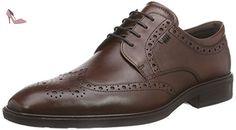 Ecco Illinois, Richelieu homme, Marron (1053Cognac), 48 EU - Chaussures ecco (*Partner-Link)