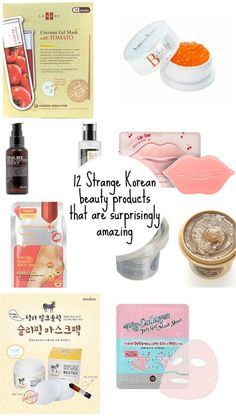 12 Strange Korean beauty products that are surprisingly amazing Korea is ahead of the curve when it comes to innovative beauty and skincare products. Here are 12 Korean beauty products that sound weird but are surprisingly amazing! Korean Skincare Steps, Asian Skincare, Korean Skincare Routine, Korean Makeup, Korean Beauty, Asian Beauty, Japanese Makeup, Asian Makeup, Beauty Care