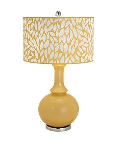 Bascilia Glass Table Lamp at MYHABIT #Refreshing #Yellow