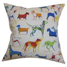 Canis Familiaris Pillow - love all the dogs, but the Dachshund in a sweater is my favourite! :)