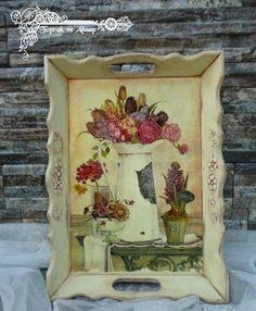 Bildresultat för stencil for decoupage Napkin Decoupage, Decoupage Tutorial, Decoupage Paper, Easy Diy Crafts, Decor Crafts, Ceramic Painting, Painting On Wood, Decoupage Furniture, Vintage Drawing