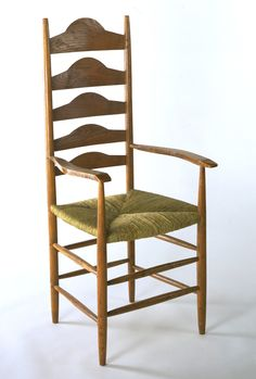 Armchair Ernest William Gimson Ash, Turned On A Pole Lathe, With Splats Of  Riven Ash; Replacement Rush Seat Museum No. Style Guide: Arts U0026 Crafts    Victoria ...