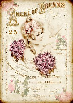 Angel of Dreams, Vintage Shabby Pink!