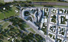 Beko Masterplan - Architecture - (c) Zaha Hadid Architects.    Some more fluidity...