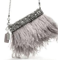 Coach Ostrich feather handbag