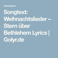 Songtext: Weihnachtslieder – Stern über Bethlehem Lyrics   Golyr.de