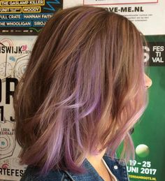 Reddish Brown Hair With Lavender Highlights