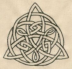Embroidery Designs at Urban Threads - Triquetra Embroidery Transfers, Embroidery Patterns, Hand Embroidery, Machine Embroidery, Quilt Patterns Free, Cross Stitch Patterns, Wicca, Pagan, Celtic Knot Designs