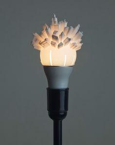 Skyline Lamp Shade: 3D Cityscape Wraps Round Light Bulb