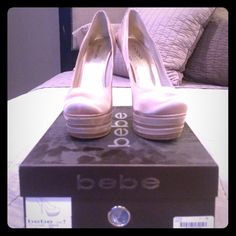 💥💥 FINAL - END OF YEAR SALE 💥💥 Worn around the house, collecting dust in closet. Time to pass on. bebe Shoes Platforms