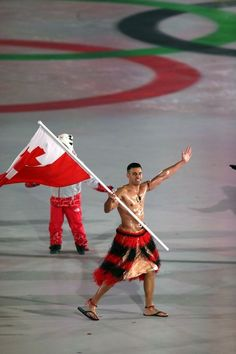 Pita Taufatofua braved the freezing cold to give the world his glorious abs again at the PyeongChang Opening Ceremony. Princess Eugenie, We Are The World, Opening Ceremony, Cosmopolitan, Eye Candy, Walking, Ballet Skirt, Freezing Cold, Change