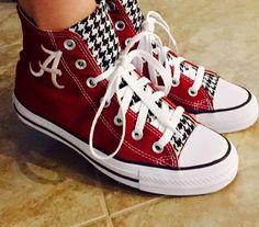 Resultado de imagem para alabama crimson tide converse shoes
