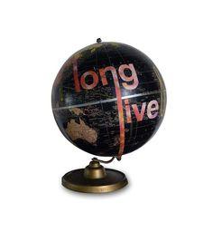 Rock My World Globe by wendygold on Etsy, $350.00