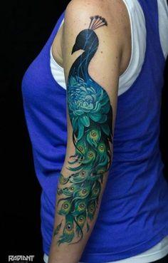 Lukovnikov tattoo peacock