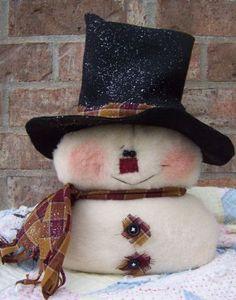 SNOWMAN ~ Cloth Doll Patterns by Michelle Allen