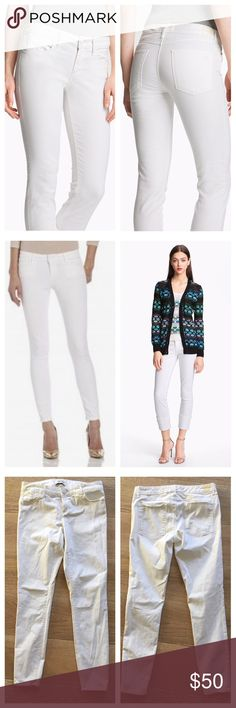 Habitual Angelina Cigarette Skinny Arctic 28 White Gently preowned in perfect condition. Size 28. Arctic (white) wash. Extremely soft! 97% cotton 3% spandex. Habitual Pants Skinny