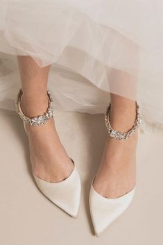 Most Wanted Wedding Shoes For Bride And Bridesmaids ★ See more: www.weddingforwar… 24 Most Wanted Wedding Shoes For Bride & Bridesmaids The post 24 Most Wanted Wedding Shoes For Bride & Bridesmaids appeared first on Home Dekoration. Wedge Wedding Shoes, Wedding Shoes Bride, Wedding Bridesmaids, Flat Bridal Shoes, Bridesmaid Shoes Flat, White Flats Wedding, Gold Bridal Shoes, Winter Wedding Shoes, Unique Wedding Shoes