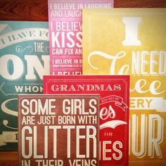 Unique Vintage Typography on Wooden Signs. Perfect decoration for your home. 2x4 Wood Projects, Art Projects, Wooden Wall Art, Wood Art, Wood Design, Diy Design, Words On Wood, Wooden Signs With Sayings, Wood Signs For Home