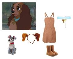"""""""Lady and the tramp costume"""" by bruinmariana on Polyvore featuring Pilot and UGG"""