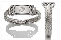Women's Marine Corps Bracelet - Embossed