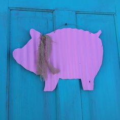 corrugated tin pigs rustic garden decor rustic outdoor
