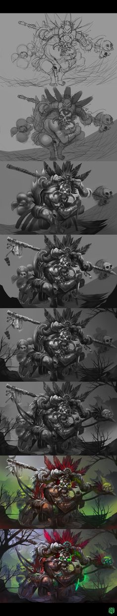 Witch Doctor Step by step by Kashuse on deviantART