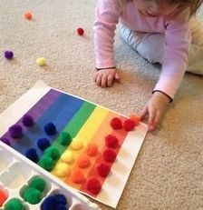Issues de la pédagogie MONTESSORI, voici des idées de manipulations faciles à… From the MONTESSORI pedagogy, here are some ideas of manipulations easy to realize in class or at home to play with the …