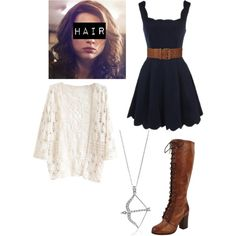 Allison Argent Inspired Outfit by lili-c on Polyvore featuring Frye, BERRICLE and BCBGMAXAZRIA