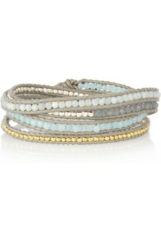 Silver, Gold-Plated, Quartz and Jade Five-Wrap Bracelet by Chan Luu
