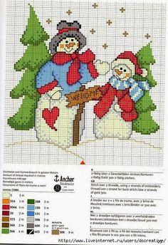 A través de mari@net                                Point de croix *m@* Cross stitch Christmas