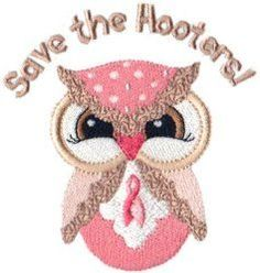 Save the Hooters Free machine embroidery design from Sew-teri-fic Designs