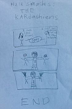 """HULK Smashes The Kardashians,"" By A 10-Year-Old Boy"