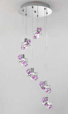Italian company Micron has come up with these unique lighting fixtures for home which are its top product to date! The Queen crystal collection is the Modern Lighting Design, Unique Lighting, Lighting Ideas, Nightlights, Crystal Collection, Queen, Maine House, Light Fixtures, Crystals