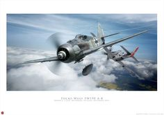 Focke Wulf 190 A-8 about to tangle with a P 51D