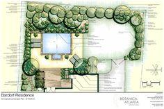 the master plan landscape design | Atlanta Landscaping Plans - Botanica Atlanta | Landscape Design ...